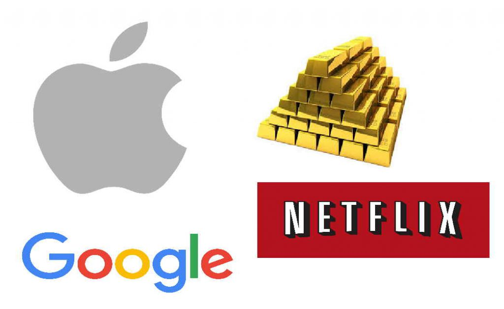 google apple netflix gold