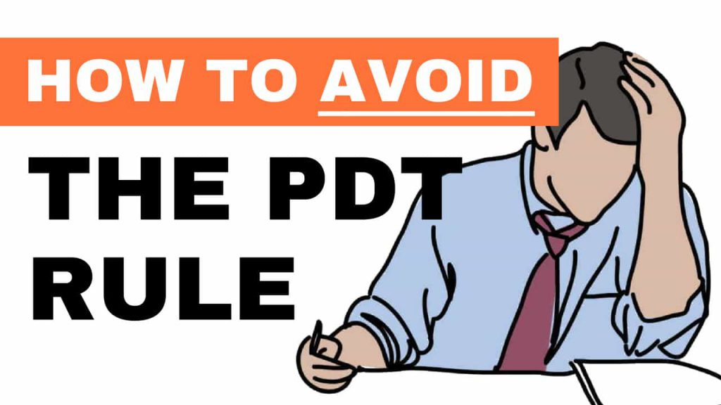 how to avoid the pdt rule