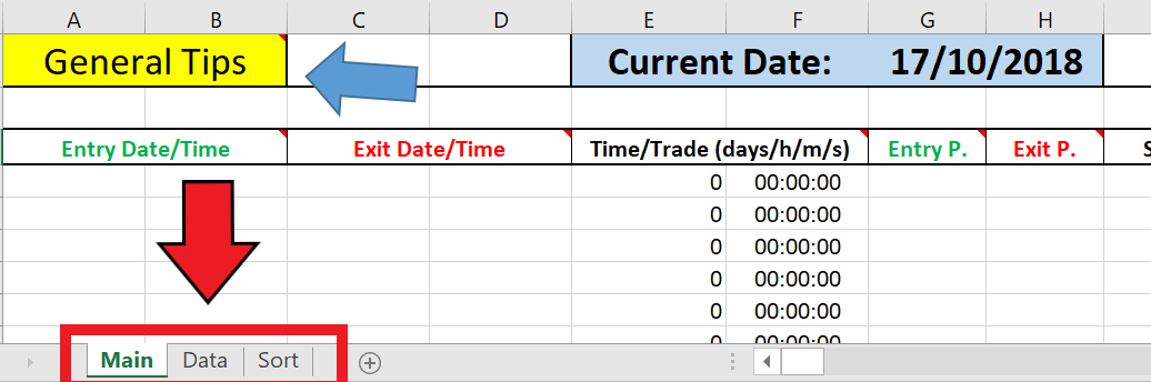 Excel trading journal template