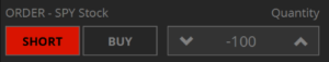 Short sell button in tastyworks