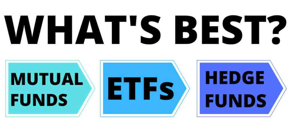 ETFs vs mutual funds vs hedge funds
