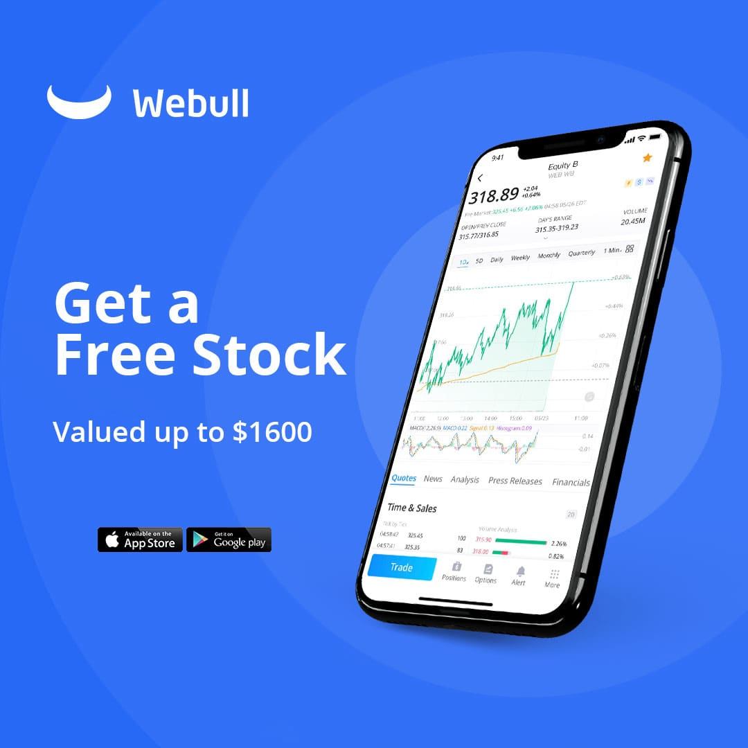 Get a Free Stock with Webull